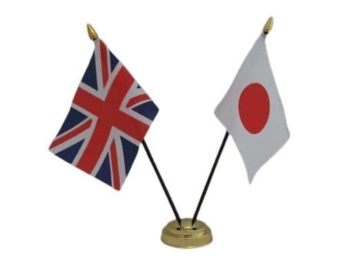 Japan with UK Friendship Table Flag